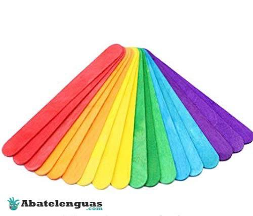 Abatelenguas de colores