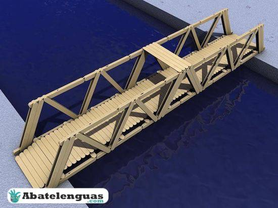 Construir puente de abatelenguas