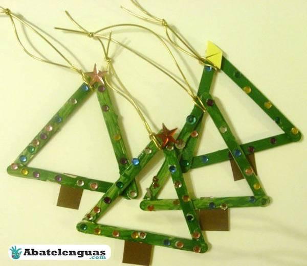 decoracion navidad palitos de madera